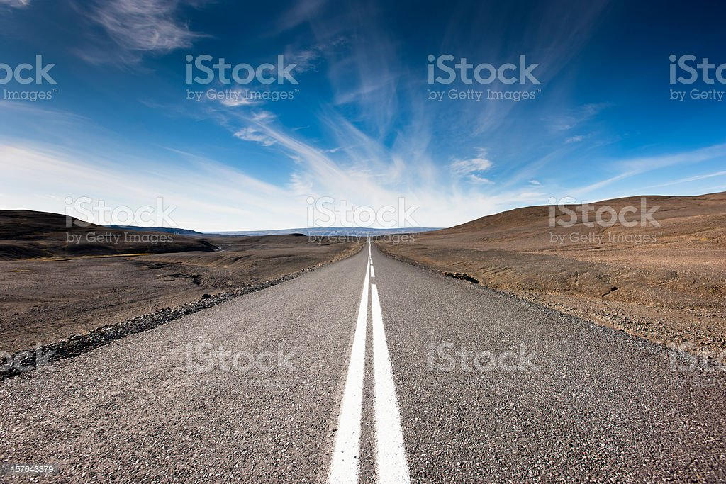 Endless Highway Iceland Highlands stock photo