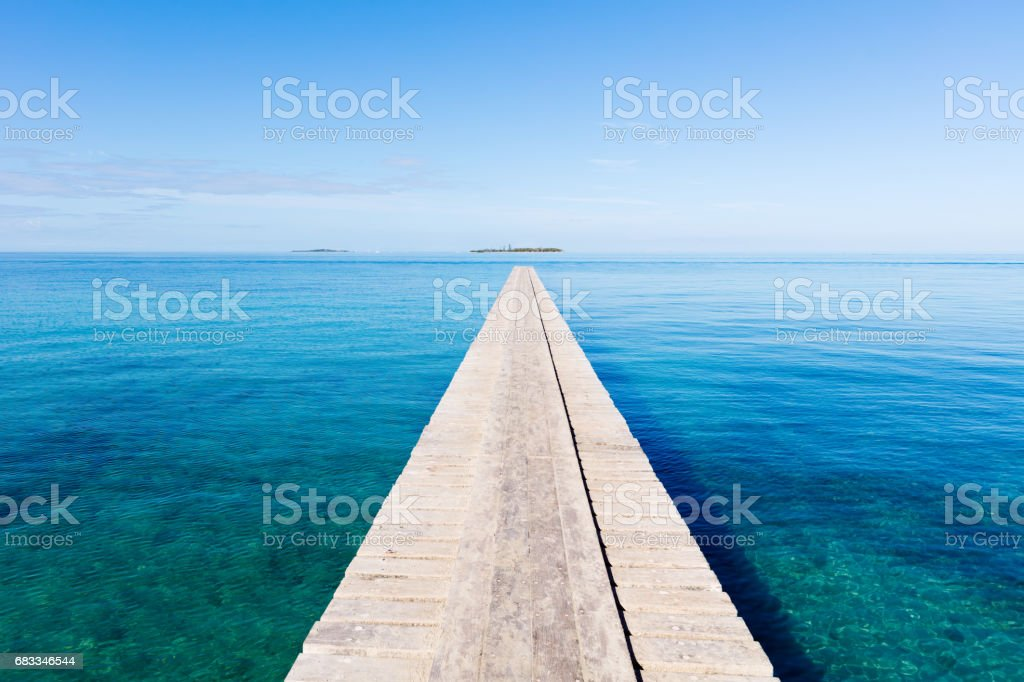 Endless Jetty to the Horizon Noumea New Caledonia stock photo