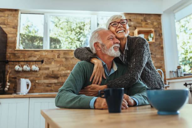 Endless love Mature woman hugging her husband mature couple stock pictures, royalty-free photos & images