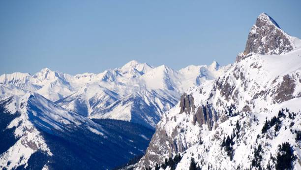 endless peaks - british columbia glacier national park stock pictures, royalty-free photos & images