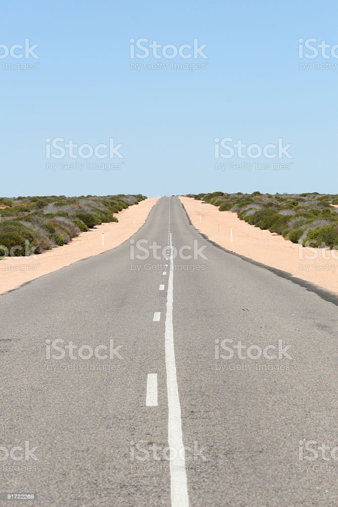 Endless road, Australia stock photo