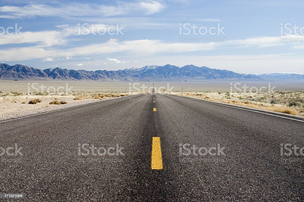 endless road, rt 375 nevada royalty-free stock photo