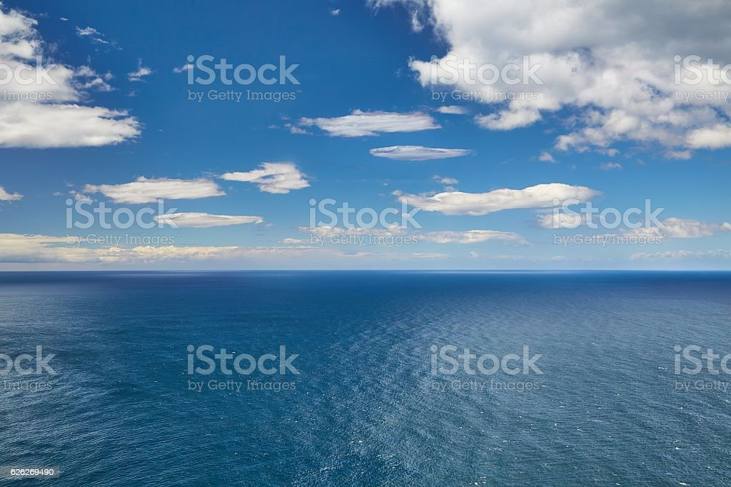 Endless sea and sky stock photo
