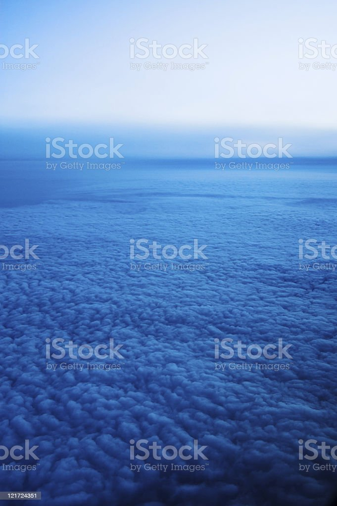 Endless Sea of Blue Clouds royalty-free stock photo