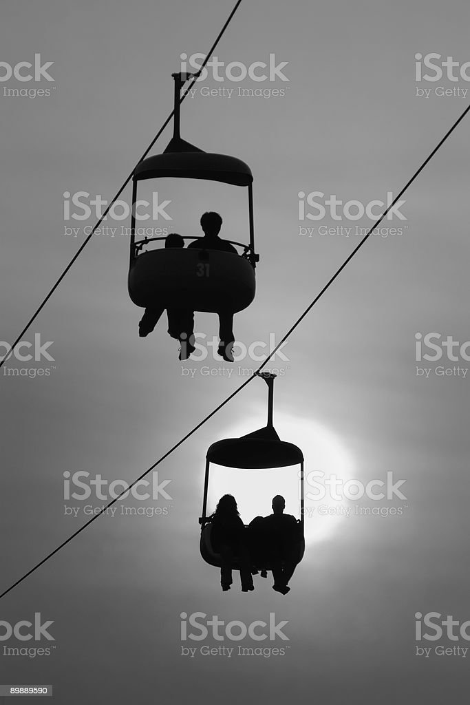 Endless Sky Ride royalty-free stock photo