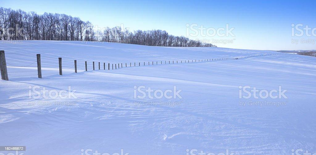 Endless Snow stock photo