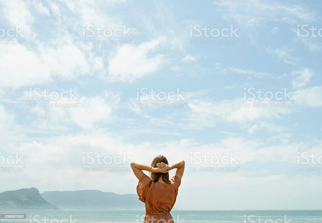 Endless space to dream stock photo