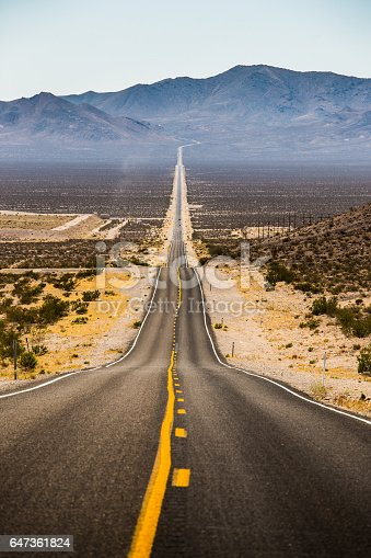 istock Endless straight road in Death Valley National Park, California, USA 647361824