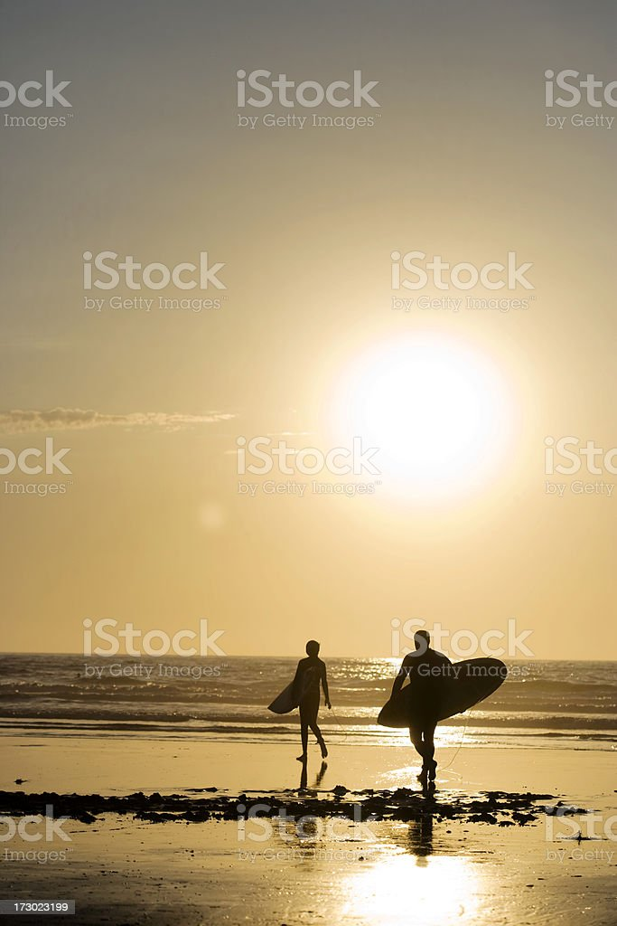 Endless Summer, Surfers in La Jolla royalty-free stock photo