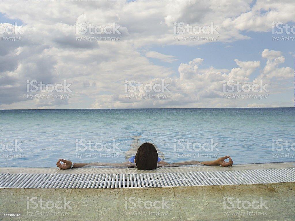 Endless swimming pool royalty-free stock photo