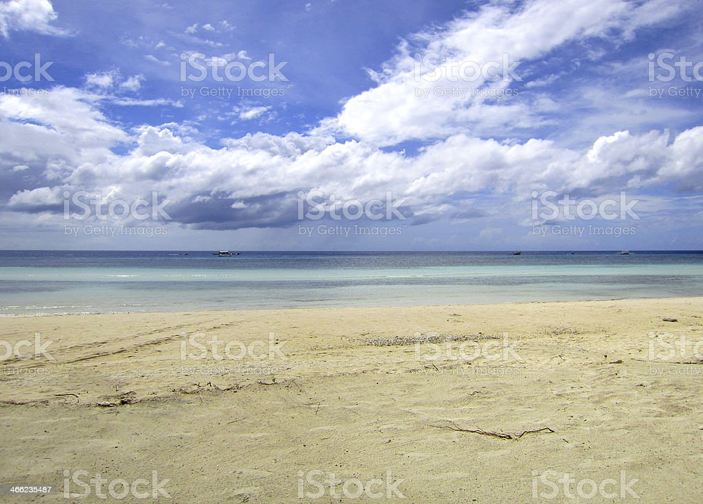 Endless View of Bohol Beach royalty-free stock photo