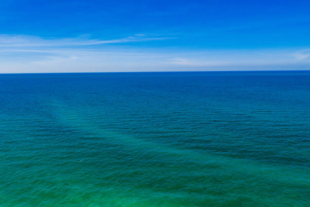 Endless Water That Extends All The Way To The Horizon, Lake Erie Ohio stock photo