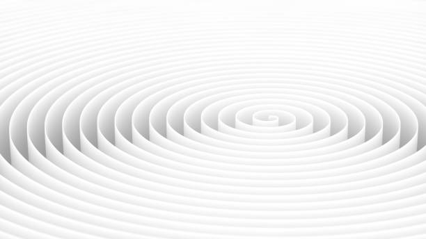 Endless white helix background with Depth of Field. stock photo