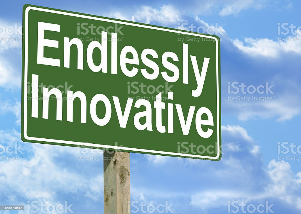 Endlessly Innovative Highway Sign royalty-free stock photo