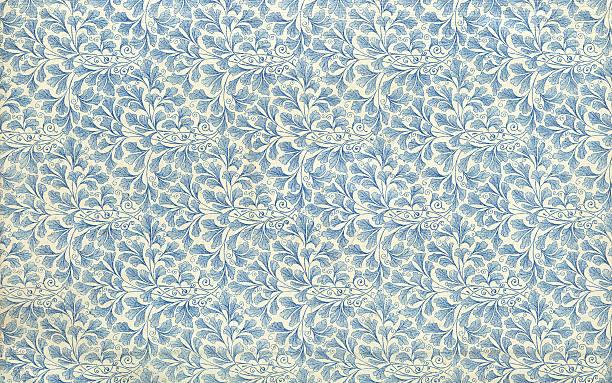 endpaper leaf floral pattern vintage illustration stock photo