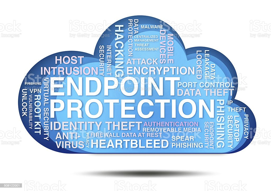 Endpoint Protection Cloud stock photo