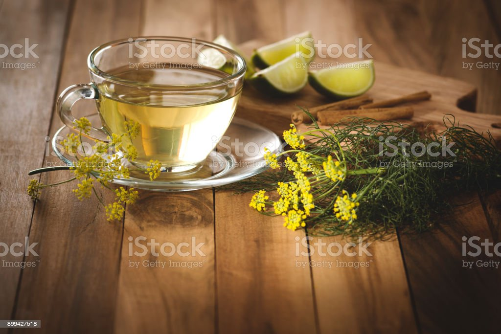 Endro tea stock photo