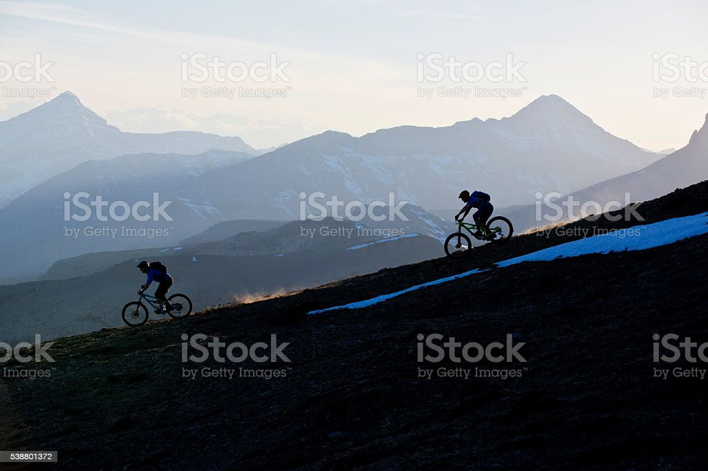Enduro Mountain Biking stock photo