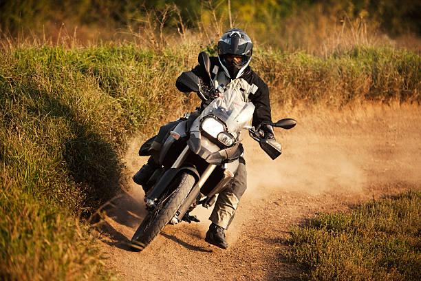 Enduro rider stock photo