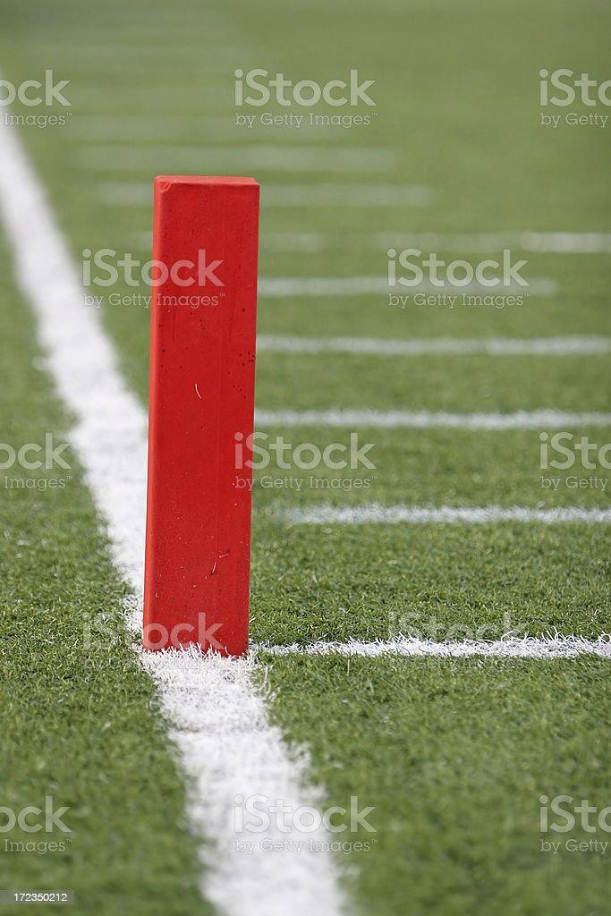 Endzone Football Pylon royalty-free stock photo