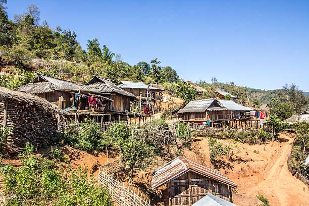 ene village - burma home do zdjęcia i obrazy z banku zdjęć