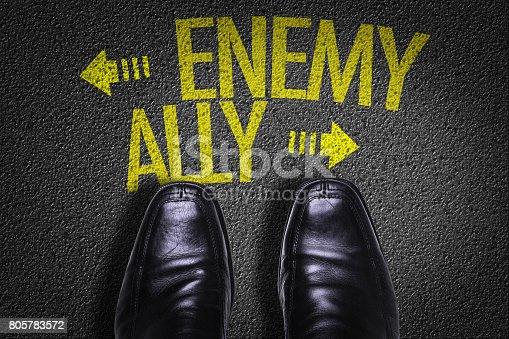 istock Enemy vs Ally 805783572