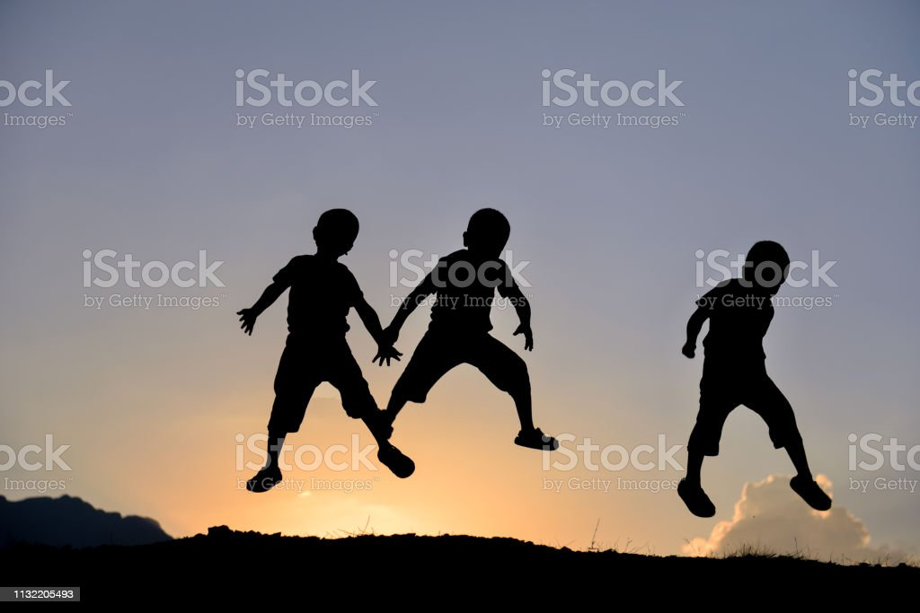 energetic children, positive and healthy generations stock photo