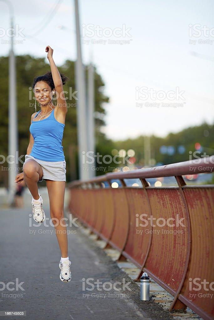Energetic girl royalty-free stock photo