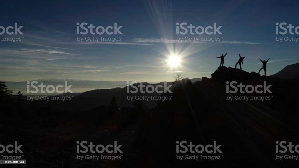 energetic, motivated and peaceful start for the day stock photo