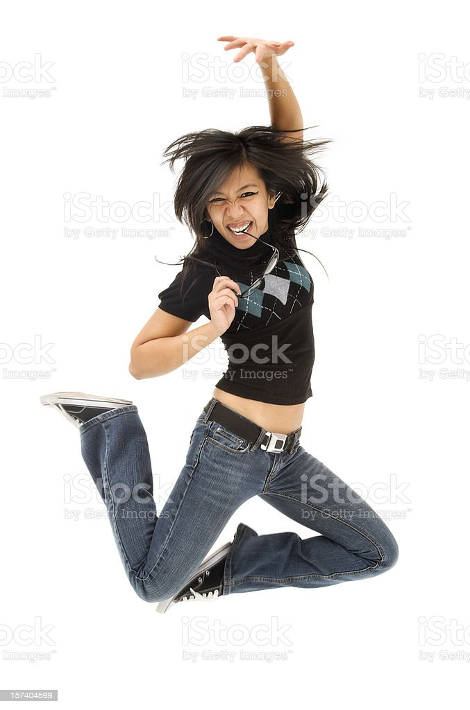 Energetic Young Woman stock photo