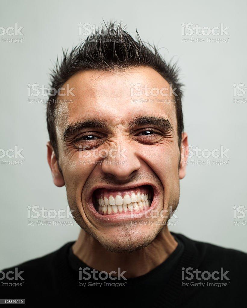 Energic man royalty-free stock photo