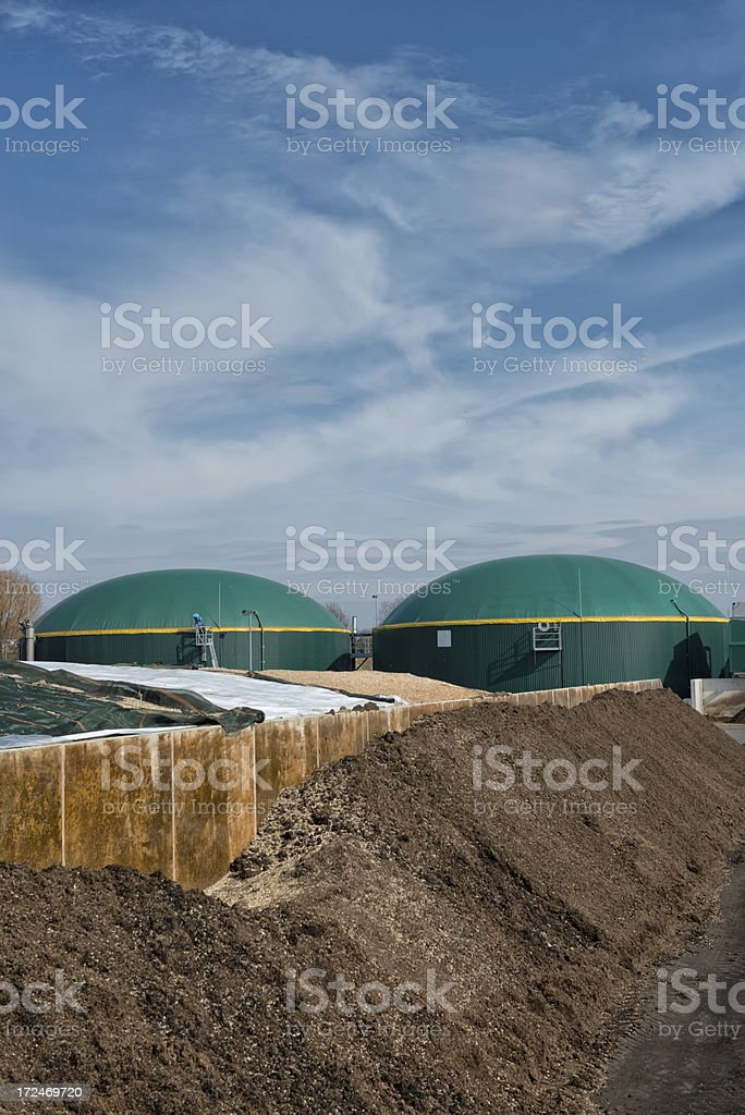Energiewende, Bioenergie, Biogas energy, Germany stock photo