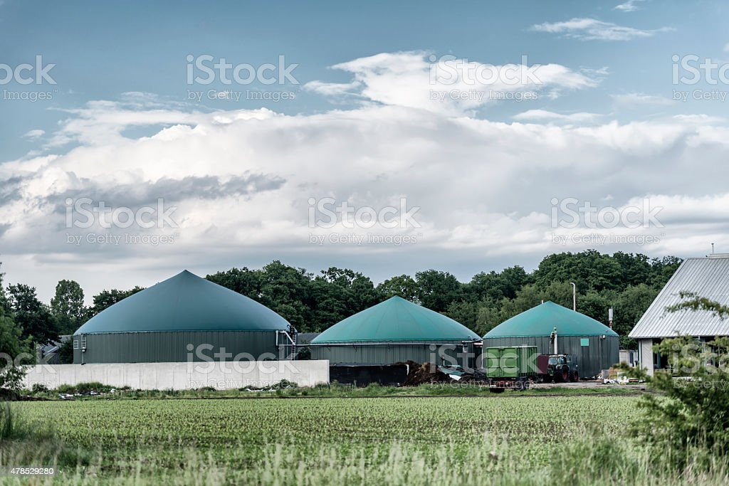 Energiewende, Biomass energy plant, Germany stock photo