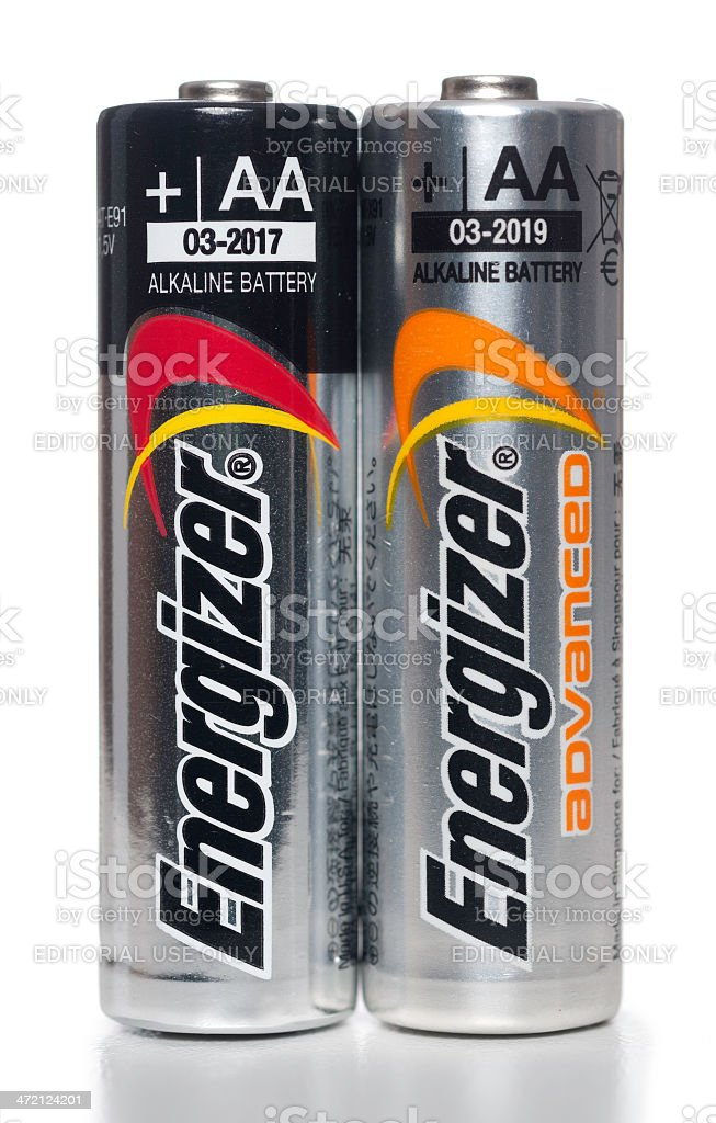 Energizer Aa Alkaline Batteries Stock Photo - Download Image