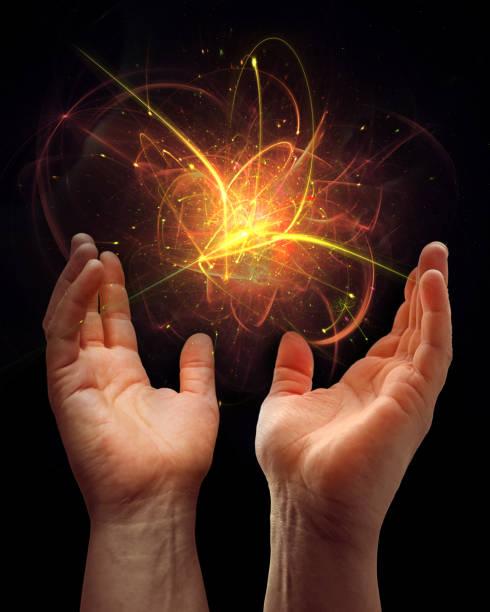 energie, abstraktes konzept zusammensetzung - feuerkugel stock-fotos und bilder