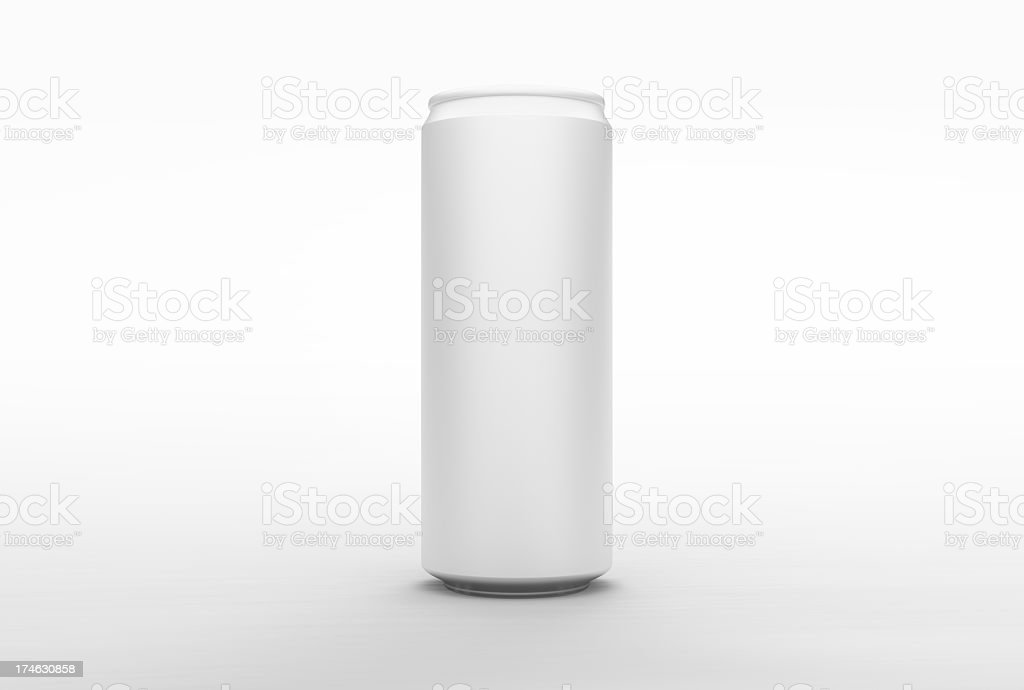 Energy Aluminum Can (front) - clipping paths stock photo