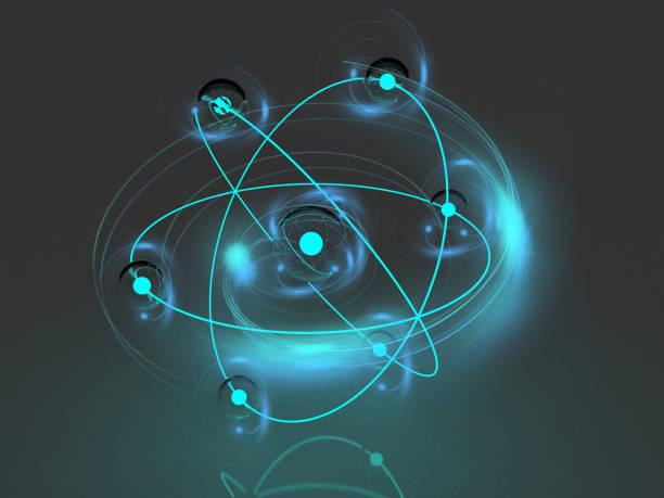 Energy atom close up - foto stock
