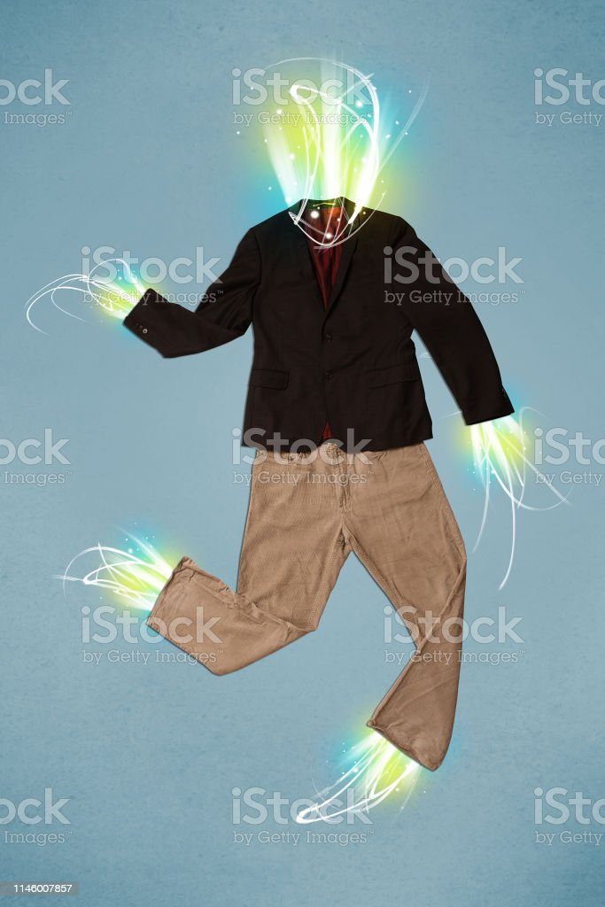 Energy Beam In Casual Clothes Concept Stock Photo Download