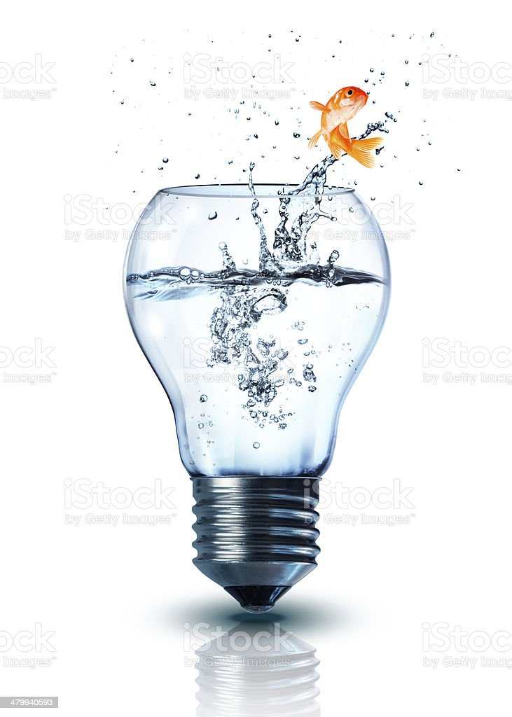 energy change concept - isolated stock photo