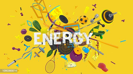 istock Energy colorful card 1050393014