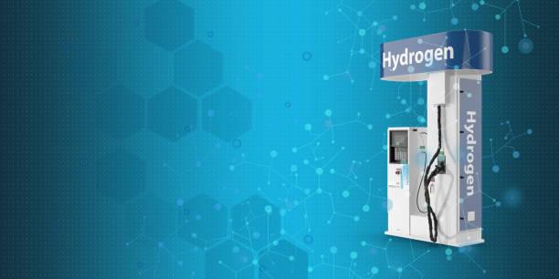 energy concept; innovative hydrogen pump. - pila a idrogeno foto e immagini stock