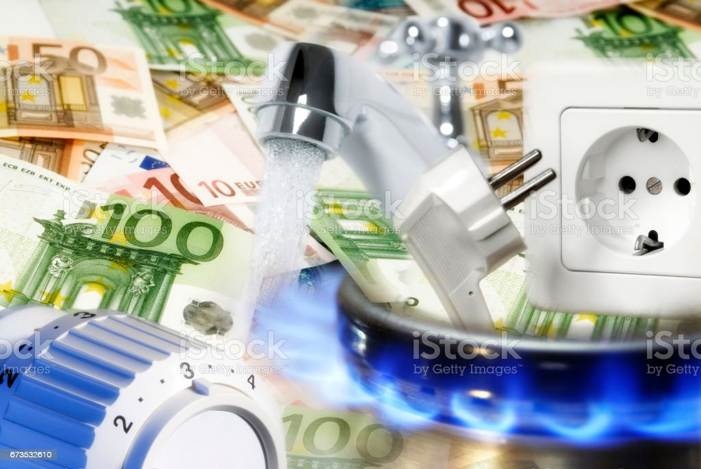 Energieverbrauch und Energiekosten stock photo