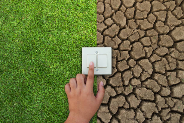 Energy Consumption and Power Saving concept. stock photo
