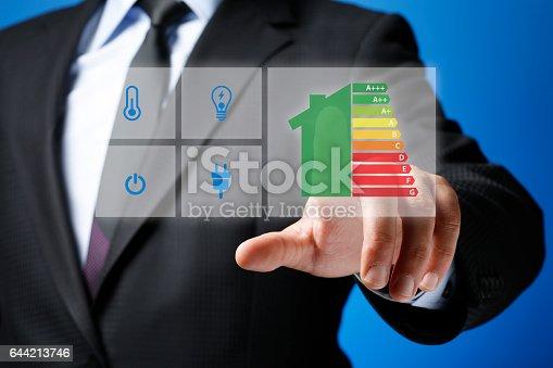 Energy Consumption Concept on Futuristic Touchscreen