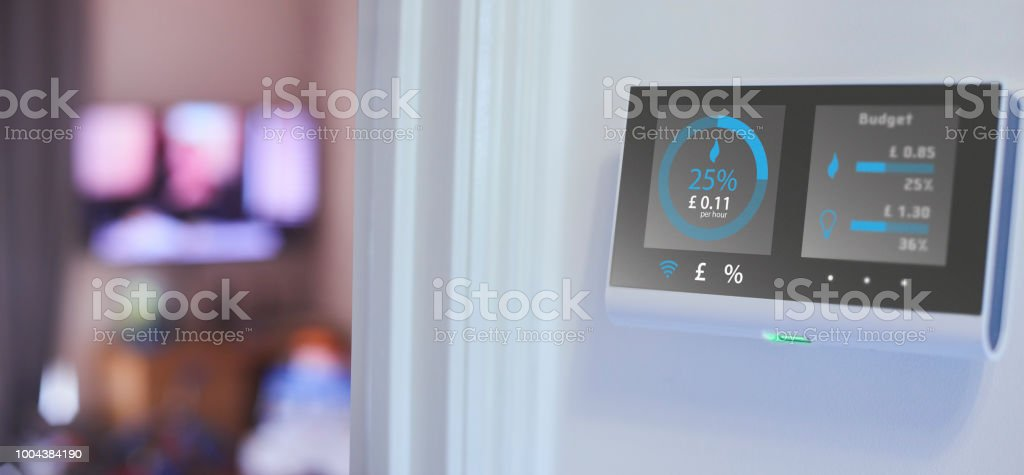 Energy consumption in the home royalty-free stock photo