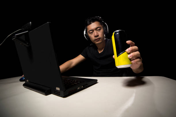 Energy Drink for eSport Player stock photo