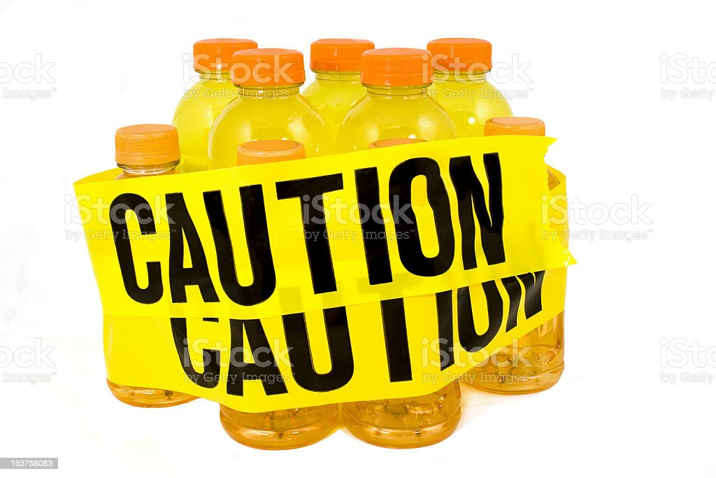 Energy Drink...Caution royalty-free stock photo
