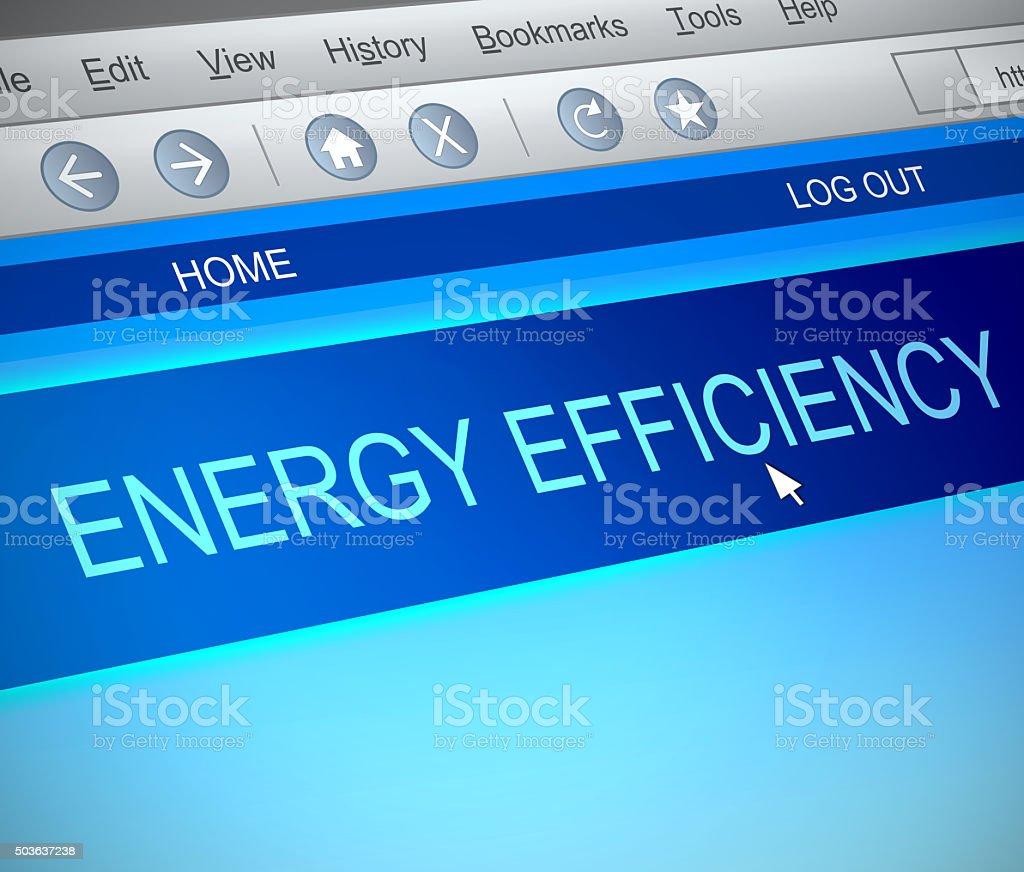 Energy efficiency concept. stock photo