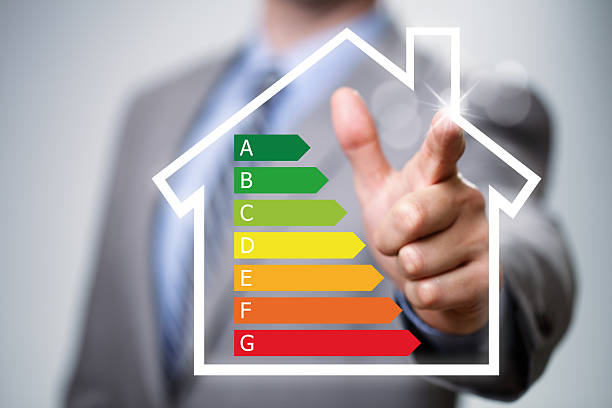 energy efficiency in the home - energy performance certificate stock photos and pictures
