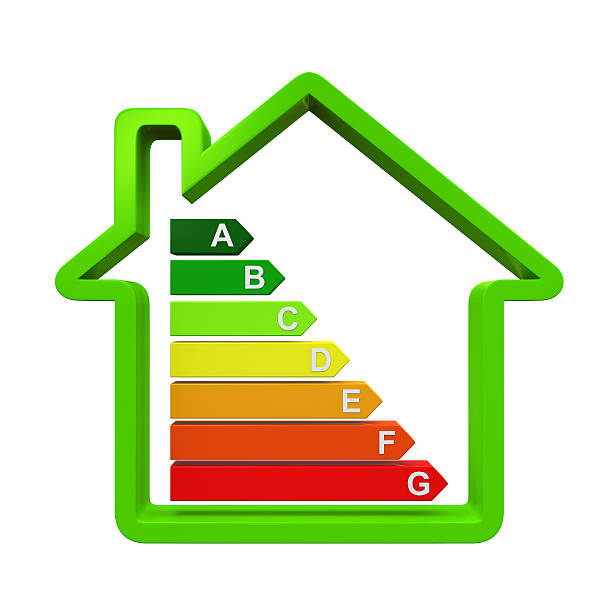 energy efficiency levels - energy performance certificate stock photos and pictures